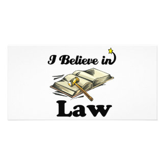 i believe in law photo card