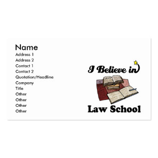 i believe in law school business card templates
