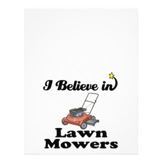 i believe in lawn movers full color flyer