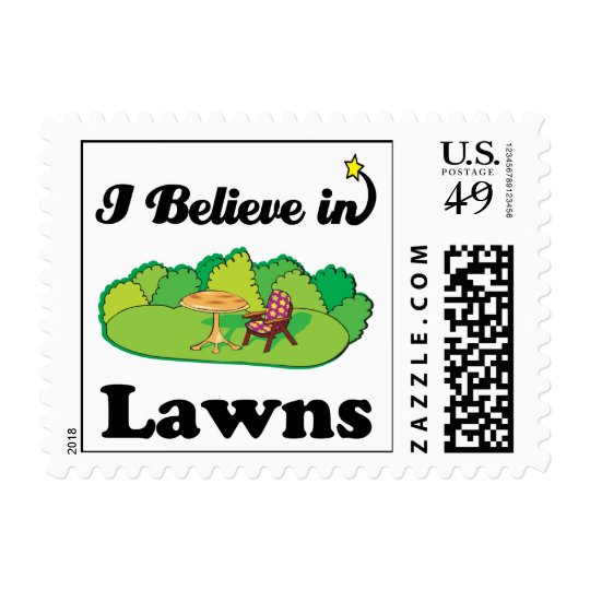 i believe in lawns postage