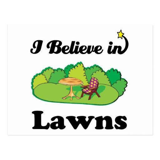 i believe in lawns postcard