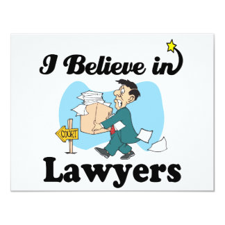 i believe in lawyers custom announcements