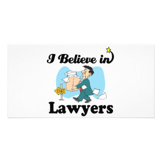 i believe in lawyers photo card