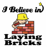 i believe in laying bricks photo sculptures