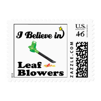 i believe in leaf blowers stamps