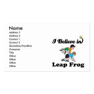 i believe in leap frog business card templates