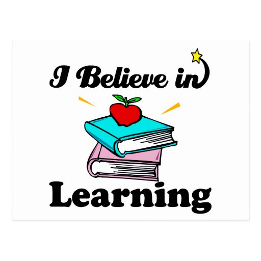 i believe in learning post cards