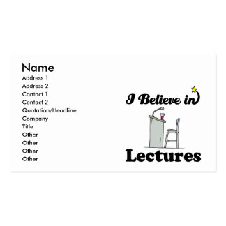 i believe in lectures Double-Sided standard business cards (Pack of 100)