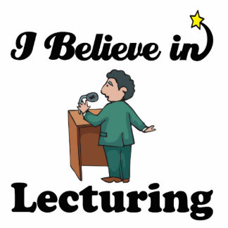 i believe in lecturing photo sculpture