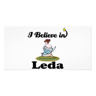 i believe in leda picture card