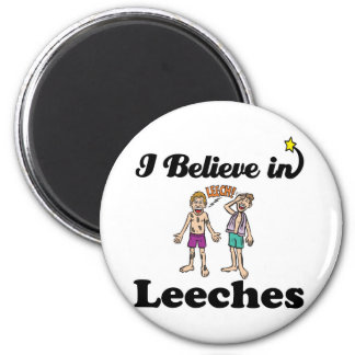 i believe in leeches 2 inch round magnet