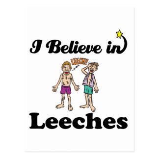 i believe in leeches postcard