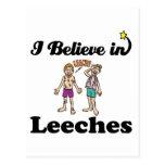 i believe in leeches postcards