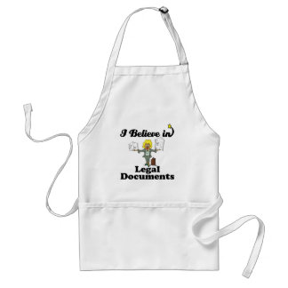 i believe in legal documents aprons