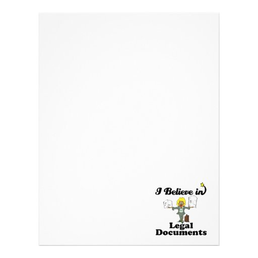 i believe in legal documents custom letterhead