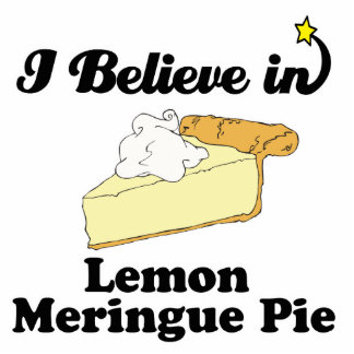 i believe in lemon meringue pie standing photo sculpture