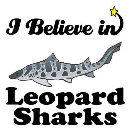i believe in leopard sharks photo cut outs