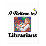i believe in librarians postcard