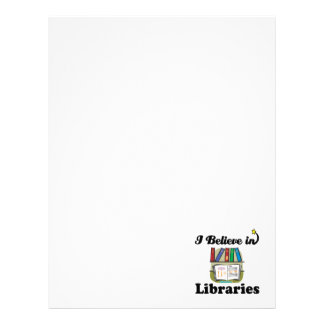 i believe in libraries letterhead