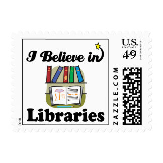 i believe in libraries stamps
