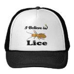i believe in lice trucker hat