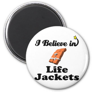 i believe in life jackets 2 inch round magnet