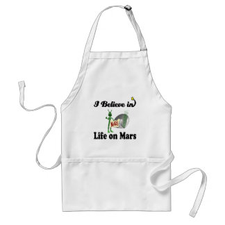 i believe in life on mars adult apron