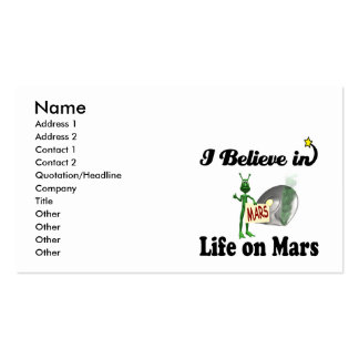 i believe in life on mars business card