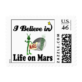 i believe in life on mars stamps