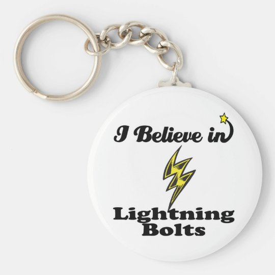 i believe in lightning bolts keychain