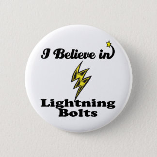 i believe in lightning bolts pinback button