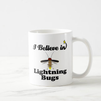 i believe in lightning bugs coffee mug