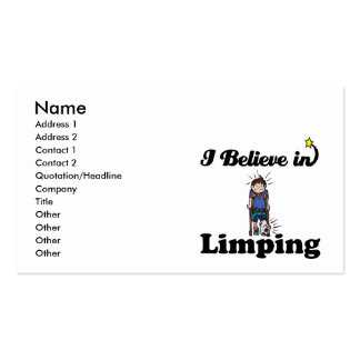 i believe in limping business card