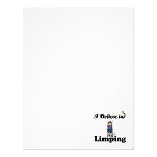 i believe in limping customized letterhead