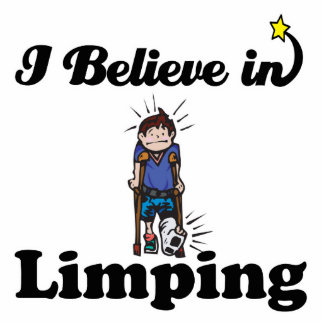 i believe in limping photo sculpture