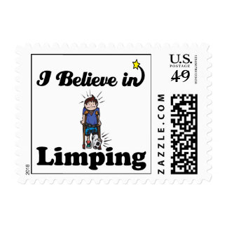 i believe in limping postage stamps