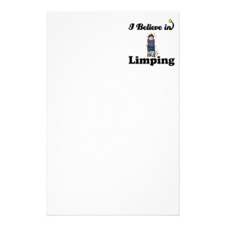 i believe in limping personalized stationery