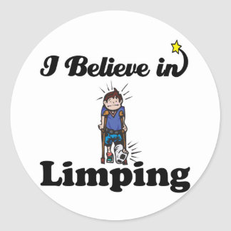 i believe in limping round stickers