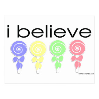 I believe in Lollipops Postcard