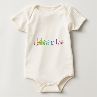 I believe in Love Baby Bodysuit