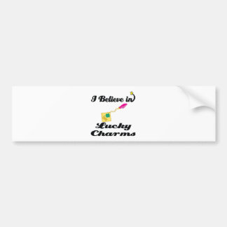 i believe in lucky charms bumper stickers