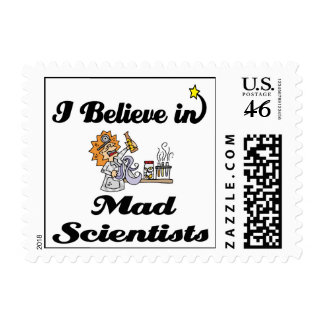 i believe in mad scientists stamps