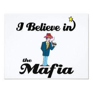 i believe in mafia 4.25x5.5 paper invitation card