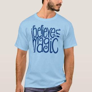 I Believe in Magic blue Mens T-shirt