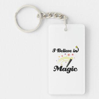 i believe in magic Single-Sided rectangular acrylic keychain