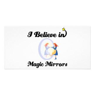 i believe in magic mirrors photo card
