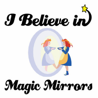 i believe in magic mirrors standing photo sculpture