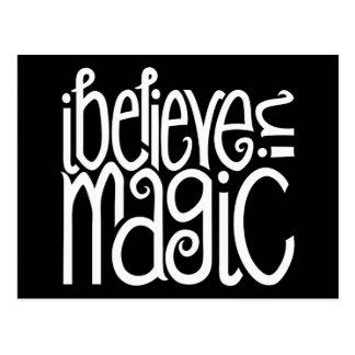 I Believe in Magic white Postcard