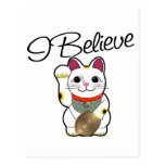 I believe in Maneki Neko Postcard