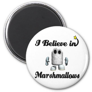 i believe in marshmallows 2 inch round magnet